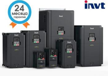Преобразователь частоты INVT 2,2 кВт вх. 3ф/380В вых. 3ф/380В GD200A-2R2G-4 для трехфазный электродвигателей